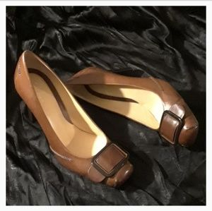 Cole Haan Leather Buckle Heels